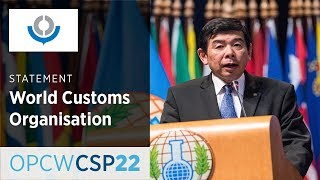 World Customs Organisation (WCO) Statement by Mr Kunio Mikuriya at CSP-22