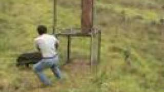 getlinkyoutube.com-Pig Trap in Hawaii and Taking Pig Boar out of Trap