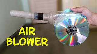 getlinkyoutube.com-How to Make a Powerful Air Blower using CD and Bottle - Easy Way