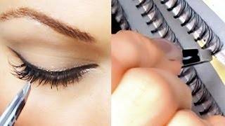 getlinkyoutube.com-Уроки макияжа. Универсальный макияж + накладные ресницы. Как наклеить ресницы