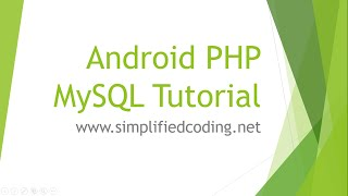 getlinkyoutube.com-Android PHP MySQL Tutorial - Create a User Registration App