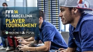 getlinkyoutube.com-FIFA 14 - FC Barcelona Player Tournament - Neymar, Fàbregas, Piqué