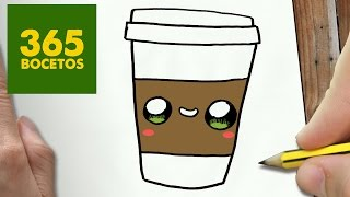 getlinkyoutube.com-COMO DIBUJAR CAFE KAWAII PASO A PASO - Dibujos kawaii faciles - How to draw a COFFEE
