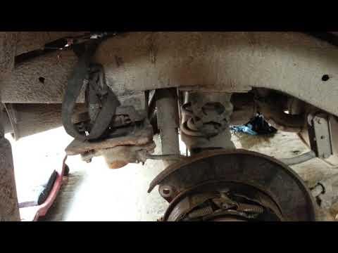 Замена заднего ступичного подшипника Opel Frontera B. часть 1.