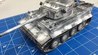 getlinkyoutube.com-Building and weathering The Tamiya 1/35 Tiger 1 with snow camouflage, plastic models
