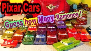 getlinkyoutube.com-Disney Pixar Cars Lightning McQueen Carry Case, Guess How Many Ramones in the Case !