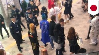 getlinkyoutube.com-特攻服集団が博多駅に参上 中卒少女を逮捕