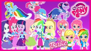 getlinkyoutube.com-💫 My Little Pony Baby Barbie and MLP Equestria Girls Dress Up and Make Up Compilation Games