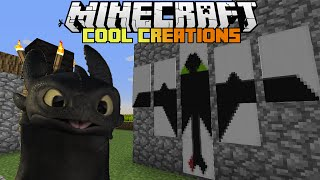 getlinkyoutube.com-Minecraft : How to make... Toothless The Dragon