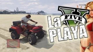 getlinkyoutube.com-Un dia en la playa !!   GTA V (Grand Theft Auto 5)