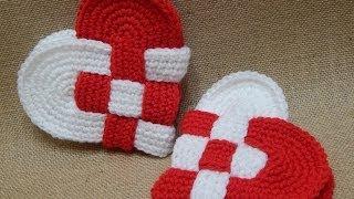 getlinkyoutube.com-Corazones Entrelazados Crochet