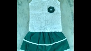 getlinkyoutube.com-kids skirt top cutting and stitching in hindi