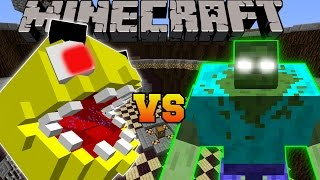 getlinkyoutube.com-Minecraft: PACMAN VS MUTANT ZOMBIE - Minecraft Mob Battles - Modded Mini-Game