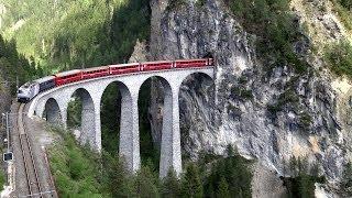 getlinkyoutube.com-Rhätische Bahn (RhB)/Albulabahn zwischen Reichenau-Tamins und (Wiesen) Filisur