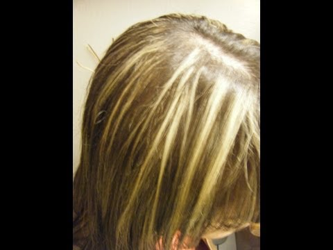 Como hacer MECHAS Y TINTE A LA VEZ, (CORTINAS) hightlights and color. Video 3