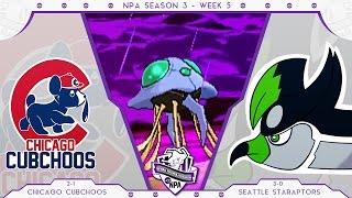 NPA Season 3 Week 4 | Chicago Cubchoos vs Seattle Staraptors | Pokemon Draft League WiFi Battle