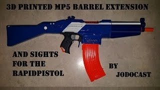 Nerf MP5 Barrel extension and sights