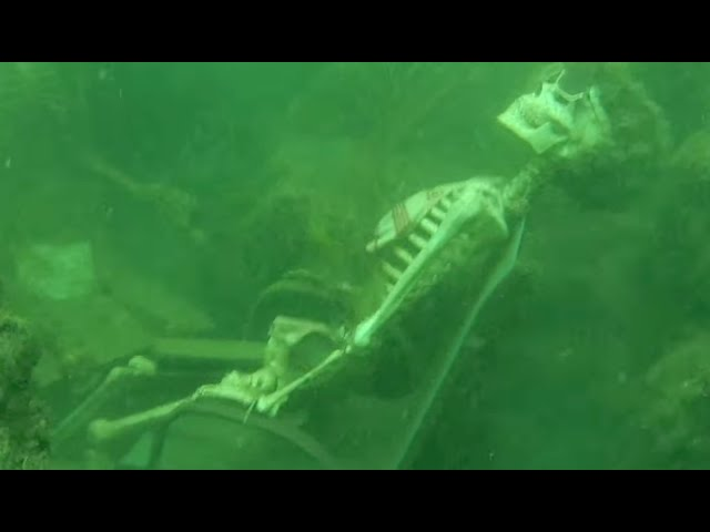 Fake Skeletons at the Bottom of a River?? | What's Trending Now