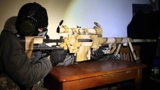 getlinkyoutube.com-Socom Cheytac M200 Intervention Rifle (Desert Camouflage Version) (Airsoft)