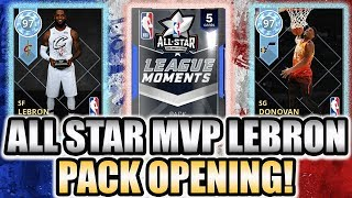 Diamond All Star MVP Lebron James Pack Opening with 2 Diamond Pulls in NBA 2K18 MyTeam