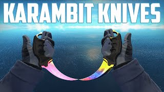 getlinkyoutube.com-CS:GO - Karambit Knives - All Skins Showcase + Price | Все Скины Karambit Knives + Цены