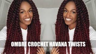 getlinkyoutube.com-TUTORIAL | Ombre Burgundy Crochet Havana Mambo Twists