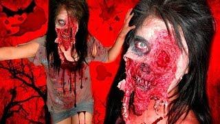 getlinkyoutube.com-The Walking Dead inspired Zombie - Makeup Tutorial