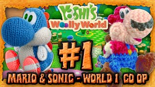 getlinkyoutube.com-Yoshi's Wooly World Co Op: Mario & Sonic! - World 1 & Giveaway