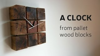 getlinkyoutube.com-How To Make A Clock From Pallet Wood Blocks