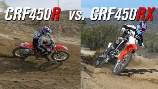 getlinkyoutube.com-2017 Honda CRF450R VS. CRF450RX