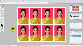 create Passport size Photo in adobe Photoshop 7.0