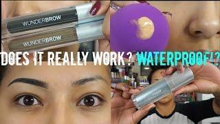 getlinkyoutube.com-WUNDERBROW Eyebrow Gel + COVERPROOF Foundation + WUNDERBLEND Complexion Sponge REVIEW + DEMO