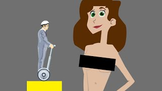 SHE WAS NOT WEARING ANY CLOTHES! (Happy Wheels #42)