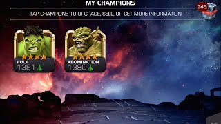 getlinkyoutube.com-Ranking Up 4-Star Hulk and 4-Star Abomination | Marvel Contest of Champions