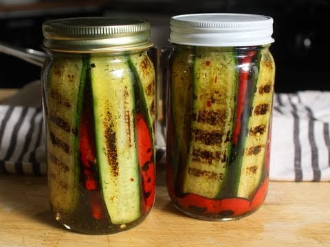 Pickled Grilled Pickles - Pickled Grilled Vegetables