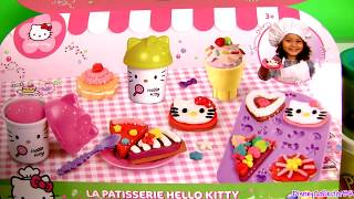 getlinkyoutube.com-Play Doh Hello Kitty Pastry Shop Donuts Ice Cream Cupcakes La Pâtisserie Mallette  ハローキティ