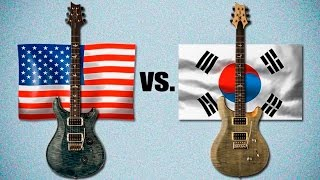 getlinkyoutube.com-USA Paul Reed Smith vs Korean PRS SE