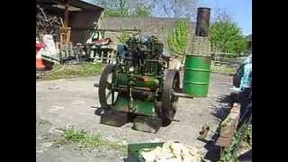 getlinkyoutube.com-Lister CS Diesel twin 12/2 stationary engine first trial start up and run after rebuild.