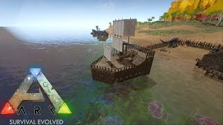 ARK: Survival Evolved - Amazing Raft Build! - S1Ep7