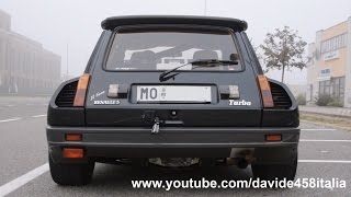 getlinkyoutube.com-ACTION! Renault 5 Maxi Turbo: launch, flames & sound