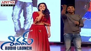 getlinkyoutube.com-DSP & Rashi Khanna Singing Song At Shivam Audio Launch || Ram, Rashi Khanna || Devi Sri Prasad