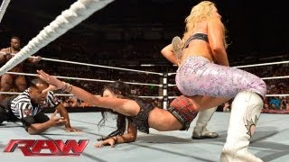 getlinkyoutube.com-The Great Khali & Natalya vs. Big E Langston & AJ Lee: Raw, August 12, 2013