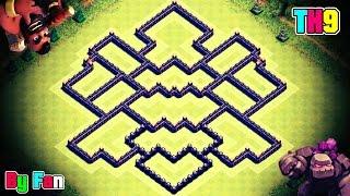 getlinkyoutube.com-Clash of Clans || Town Hall 9 (TH9) ClanWar/Trophy Base || Created By FAN [N] Shrestha