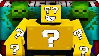 getlinkyoutube.com-Minecraft - LUCKY BLOCK BOSS CHALLENGE #1 - MUTANT ZOMBIE! (Mutant Creatures / Lucky Block Mods)