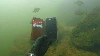 Found 10 iPhones, 2 GoPros, Gun and Knives Underwater in River! - Best River Treasure Finds of 2017 width=