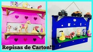 getlinkyoutube.com-COMO HACER REPISAS DE CARTON (HOW TO MAKE CARDBOARD SHELVES)