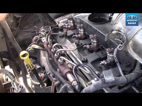 Как снять установить топливные форсунки Форд Транзит Ford Transit 2.2л TDCI 2007г видео
