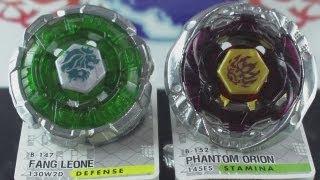 getlinkyoutube.com-EPIC Battle Fang Leone 130W²D VS Phantom Orion 145ES (Beyblade Metal Fury Hasbro) HD! AWESOME