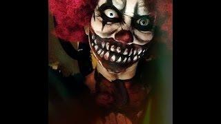 getlinkyoutube.com-Scary Clown Halloween makeup tutorial