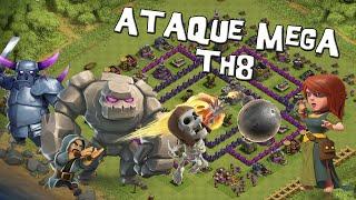 getlinkyoutube.com-Ataque Mega para Ayuntamiento 8   Ataques #44   Descubriendo Clash of Clans